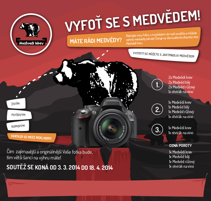 Vyfoťte se s medvědem a vyhrajte Medvědí krev! - http://www.medvedi-krev.cz/