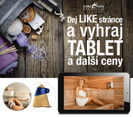Sout� o TABLET s IPS displayem a �ty�j�drem luxusn� klobouk do sauny nebo mas�n� sadu do sauny - www.finskasauna.cz