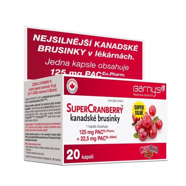 Vyhrajte balení super silných kanadských brusinek SuperCranberry! - www.barnys.cz