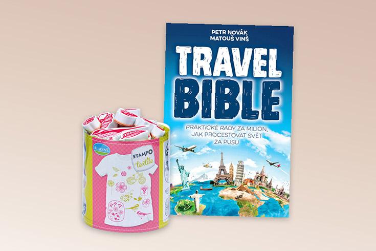 Křížovka o knihu Travel Bible a razítka AladinE Stampo Textile Kytičky - www.vyhranasedm.cz
