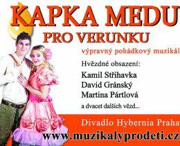 Soutěž o vstupenky na výpravný pohádkový muzikál Kapka medu pro Verunku - www.chytrazena.cz