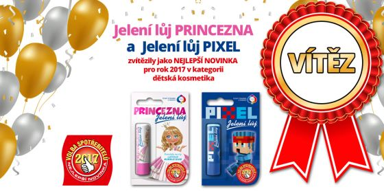 Soutěž o nejlepší novinky roku Jelení lůj Princezna a Pixel - www.chytrazena.cz