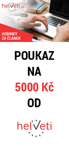 Napište článek a vyhrajte poukaz na nákup hodinek v hodnotě až 5000 Kč - www.helveti.cz