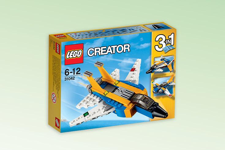 Křížovka o stavebnici LEGO Creator Super stíhačka - www.vyhranasedm.cz