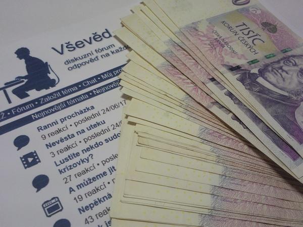 Získejte až 3000 Kč diskutováním na webu - www.vseved.info