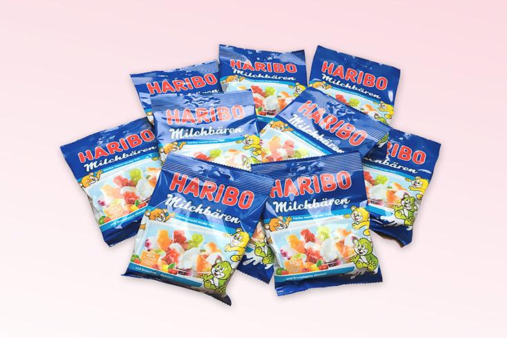 Křížovka o želé bonbony Haribo Milchbären - www.vyhranasedm.cz