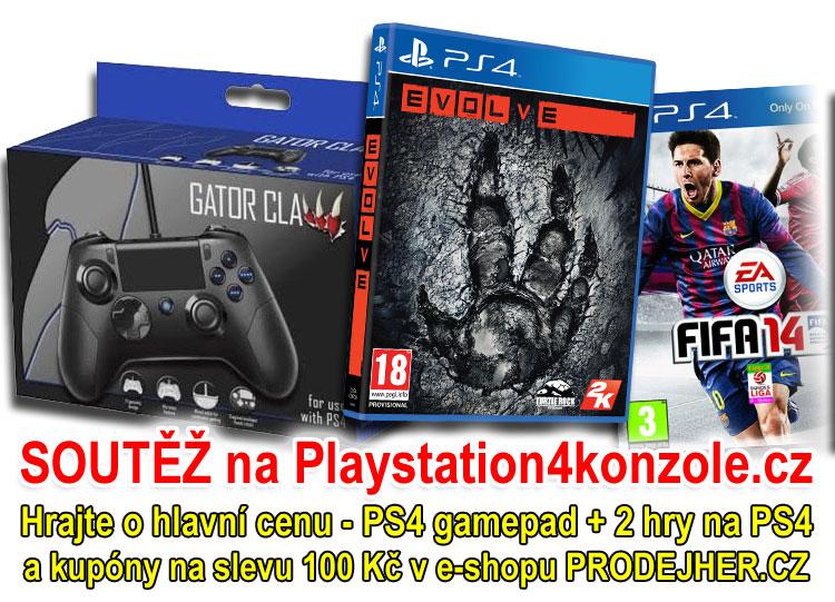 O Playstation 4 gamepad a 2 hry na PS4 - www.prodejher.cz