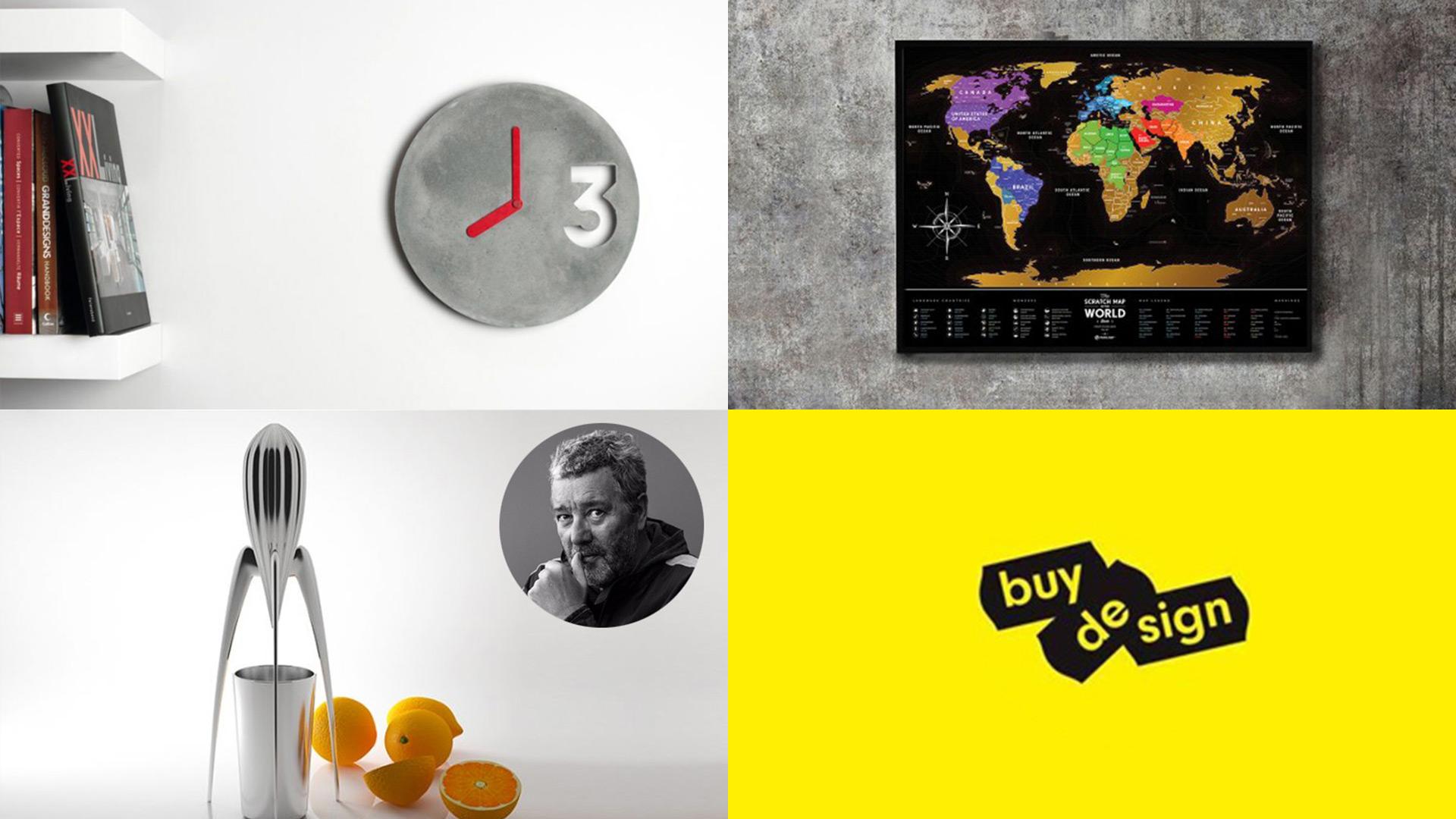 Vyhrajte betonové hodiny stírací mapu světa nebo odšťavňovač ve tvaru vesmírné rakety - www.designportal.cz