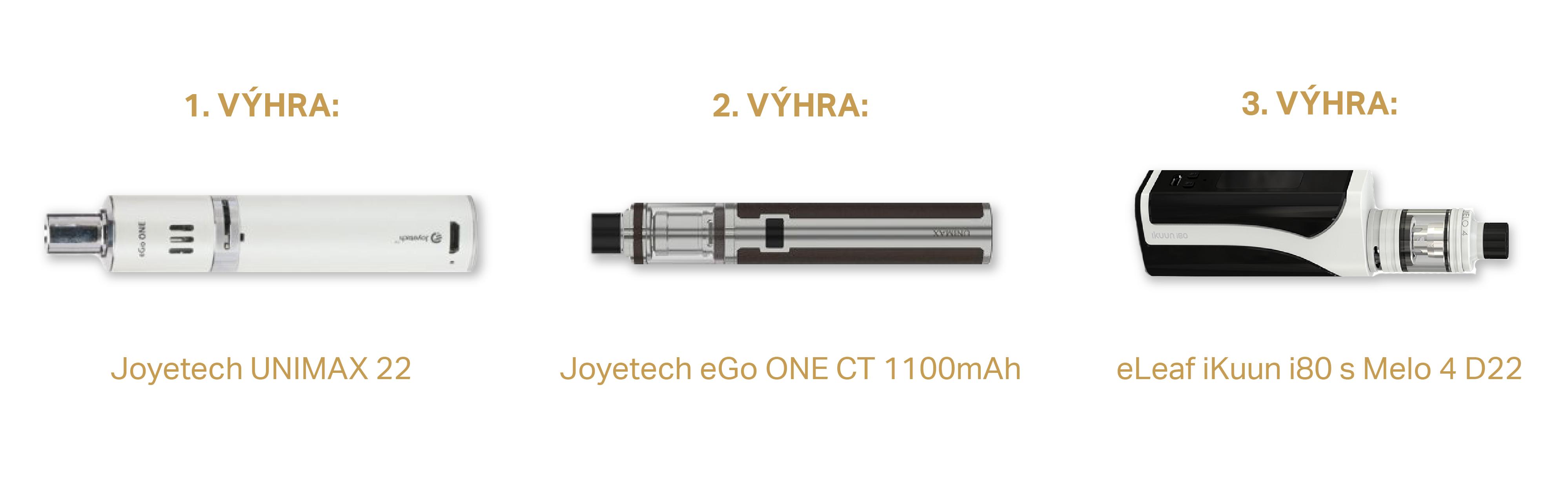 Vyhrajte špičkovou e-cigaretu! Soutěžíme o tři modely - www.gallagher.cz/vyhrajte-spickovou-cigaretu/