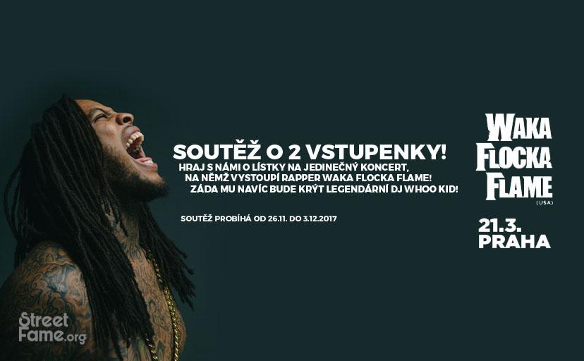 Soutěž o 2 vstupenky na pražský koncert amerického rappera Waka Flocka Flame! - www.streetfame.org