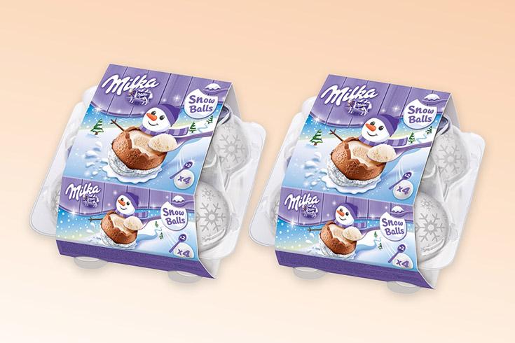 Křížovka o čokoládové koule Milka Snow Balls - www.vyhranasedm.cz