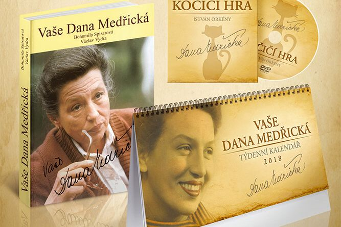 Vyhrajte tři komplety knihy DVD a kalendáře 2018 Vaše Dana Medřická  - www.klubknihomolu.cz