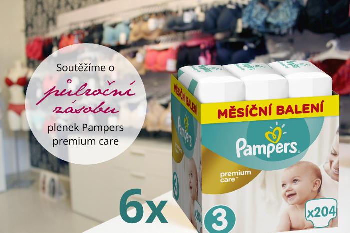Soutěž o půlroční zásobu plenek Pampers premium care - www.spravnapodprsenka.cz