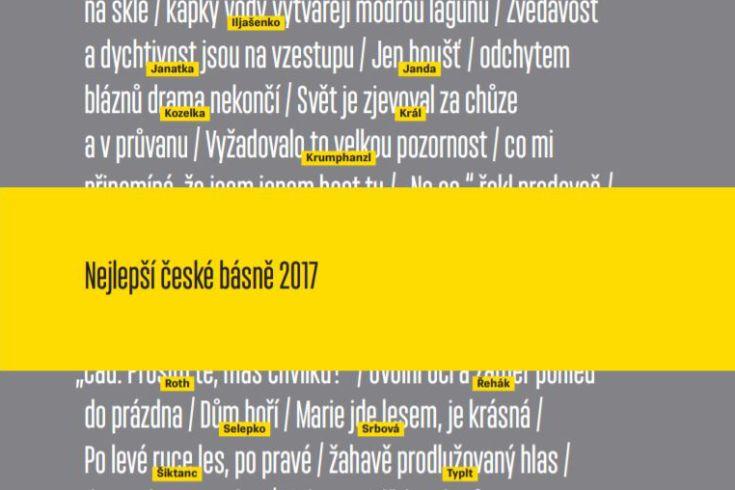 Vyhrajte dvě knihy Nejlepší české básně 2017 - www.klubknihomolu.cz