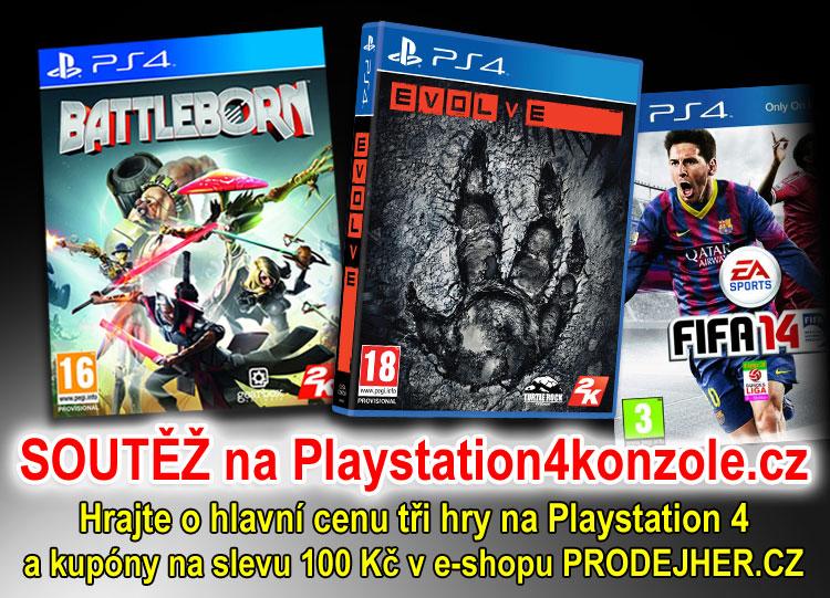 O tři hry na Playstation 4 - www.playstation4konzole.cz