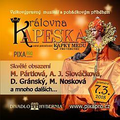 Soutěž o vstupenky na nový muzikál Královna Kapeska - www.chytrazena.cz