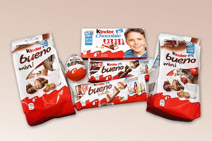 Křížovka o čokoládové tyčinky Kinder Bueno - www.vyhranasedm.cz