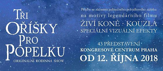 Soutěž o vstupenky na originální rodinnou show Tři oříšky pro Popelku - www.chytrazena.cz