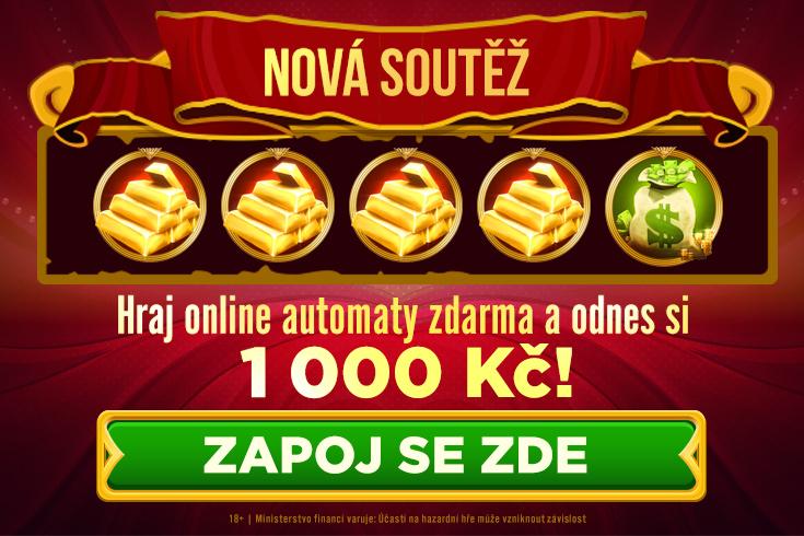 Soutěž - zkus online automaty zdarma a odnes si 1 000 Kč - www.casinoarena.cz