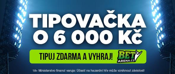 Fotbalová tipovačka o 6 000 Kč - www.betarena.cz