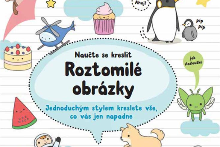 Vyhrajte tři knihy Naučte se kreslit  Roztomilé obrázky - www.klubknihomolu.cz