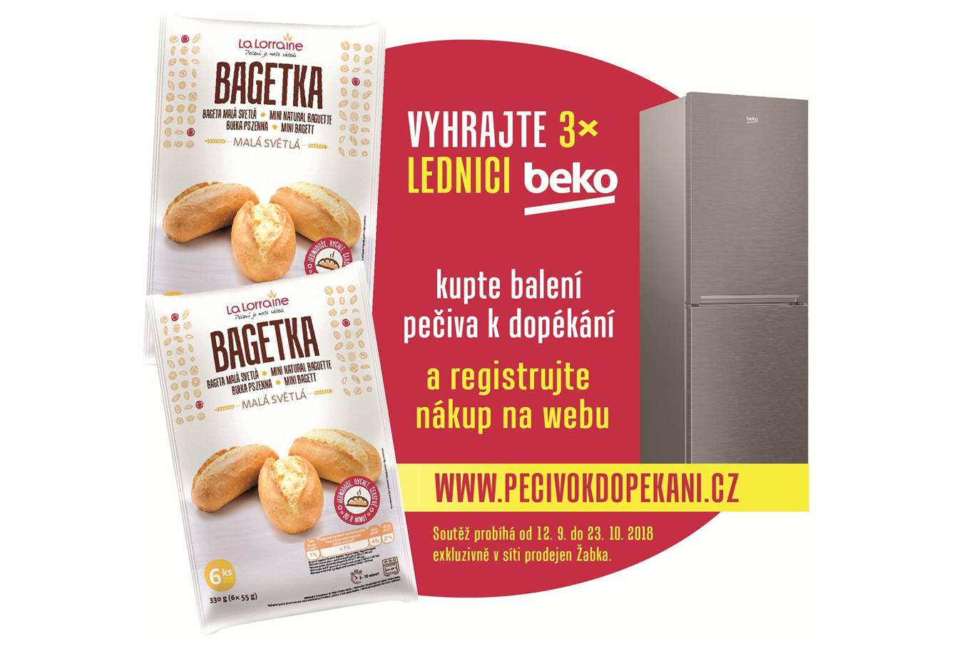 VYHRAJ LEDNIČKU S DOPÉKACÍM PEČIVEM LA LORRAINE - www.pecivokdopekani.cz