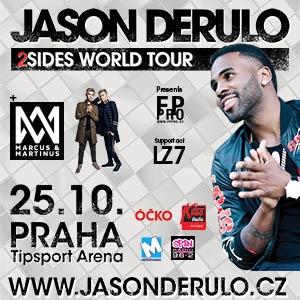 Soutěž o vstupenky na koncert JASON DERULO TOUR 2018 - www.chytrazena.cz