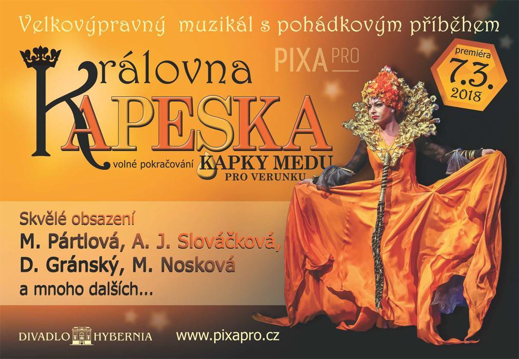 Soutěž o vstupenky na velkovýpravný muzikál Královna Kapeska - www.chytrazena.cz