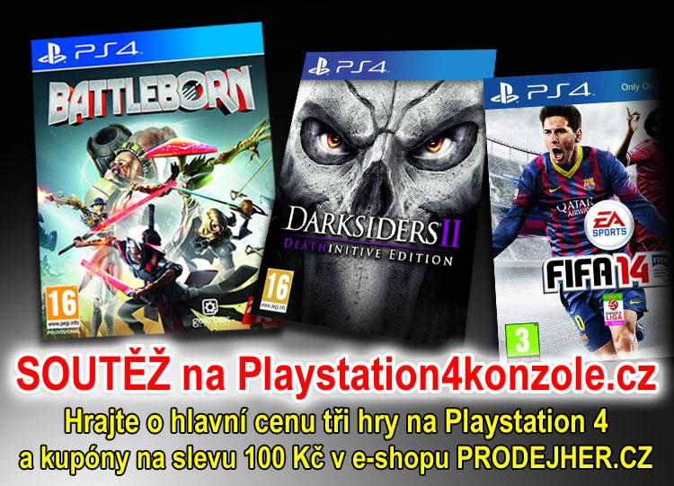 O tři nové hry na Playstation4 - www.prodejher.cz