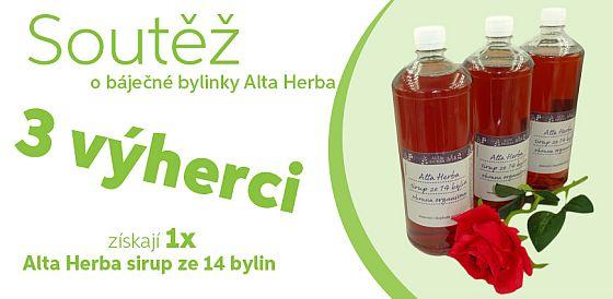 Soutěž o Sirupy Alta Herba ze 14 bylin proti nachlazení a kašli - www.chytrazena.cz