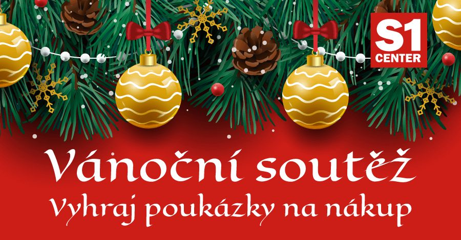 Vánoční soutěž s S1 Center Šumperk o poukázky na nákup. - www.saller.cz