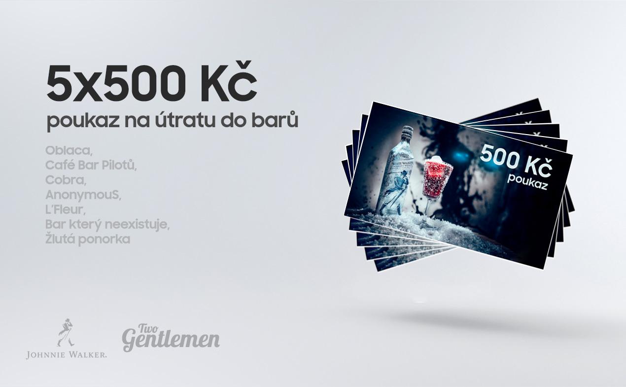 Soutěž o 5×500 Kč na útratu do barů - www.twogentlemen.cz