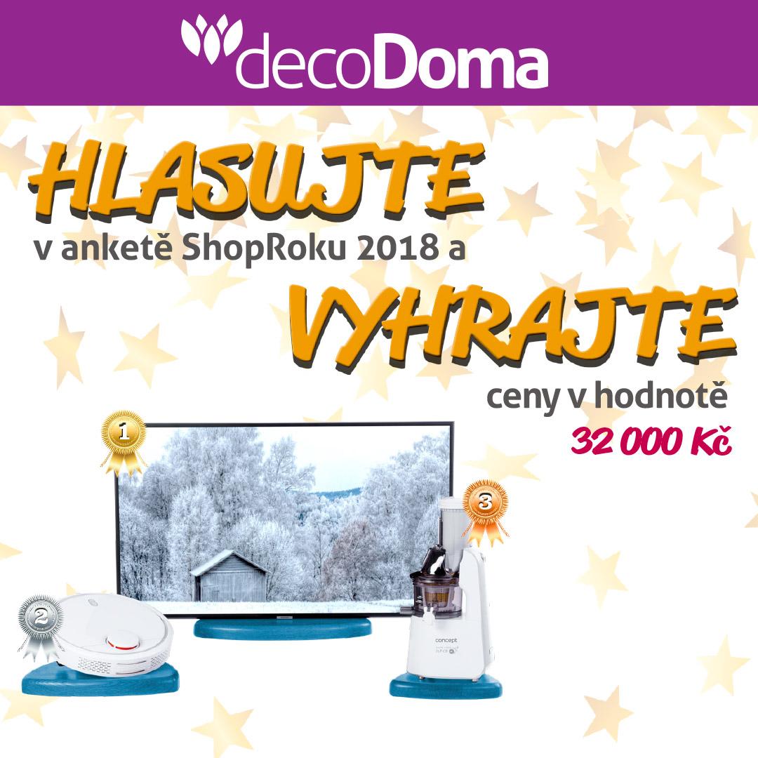 Vyhrajte televizi robotický vysavač nebo odšťavňovač.    - www.decodoma.cz