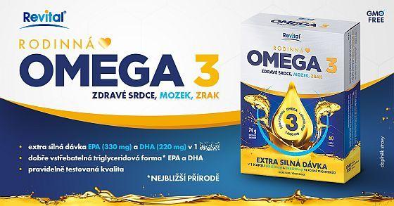 Soutěž o rodinnou Revital Omega 3 pro zdravý mozek srdce a oči - www.chytrazena.cz