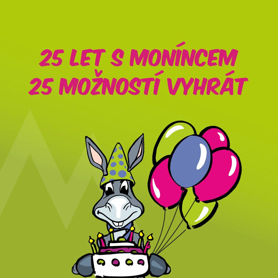 25 let s Moníncem 25 možností vyhrát - https://zima.moninec.cz/narozeniny