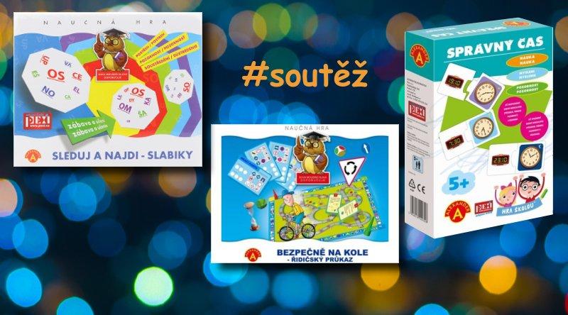 SOUTĚŽ o tři naučné vzdělávací hry pro děti - www.chrudimka.cz
