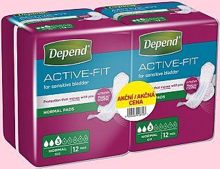 Vyhraj 3x karton inkontinenčních vložek Depend Active-Fit Normal Duopack - www.chytrazena.cz