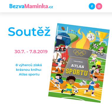 8 výherců získá krásnou knihu: Atlas sportu - www.bezvamaminka.cz
