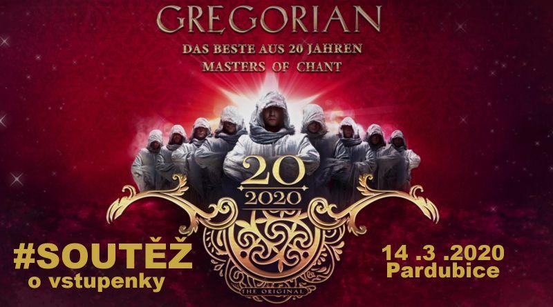 SOUTĚŽ o vstupenky na GREGORIAN 2020 do Pardubic - www.chrudimka.cz