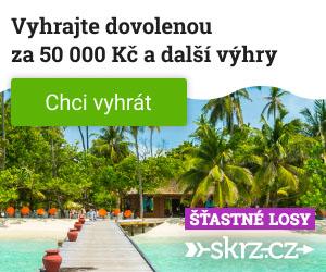 Šťastné losy - soutěž o dovolenou snů za 50 000 Kč a dalších 518 výher - www.skrz.cz