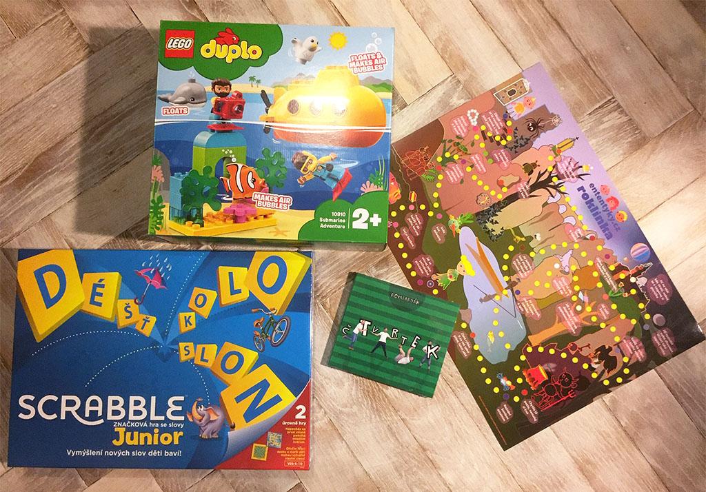 Soutěž o stavebnici Lego Duplo hru Scrabble Junior a CD od Bombarďáka - www.ententyky.cz