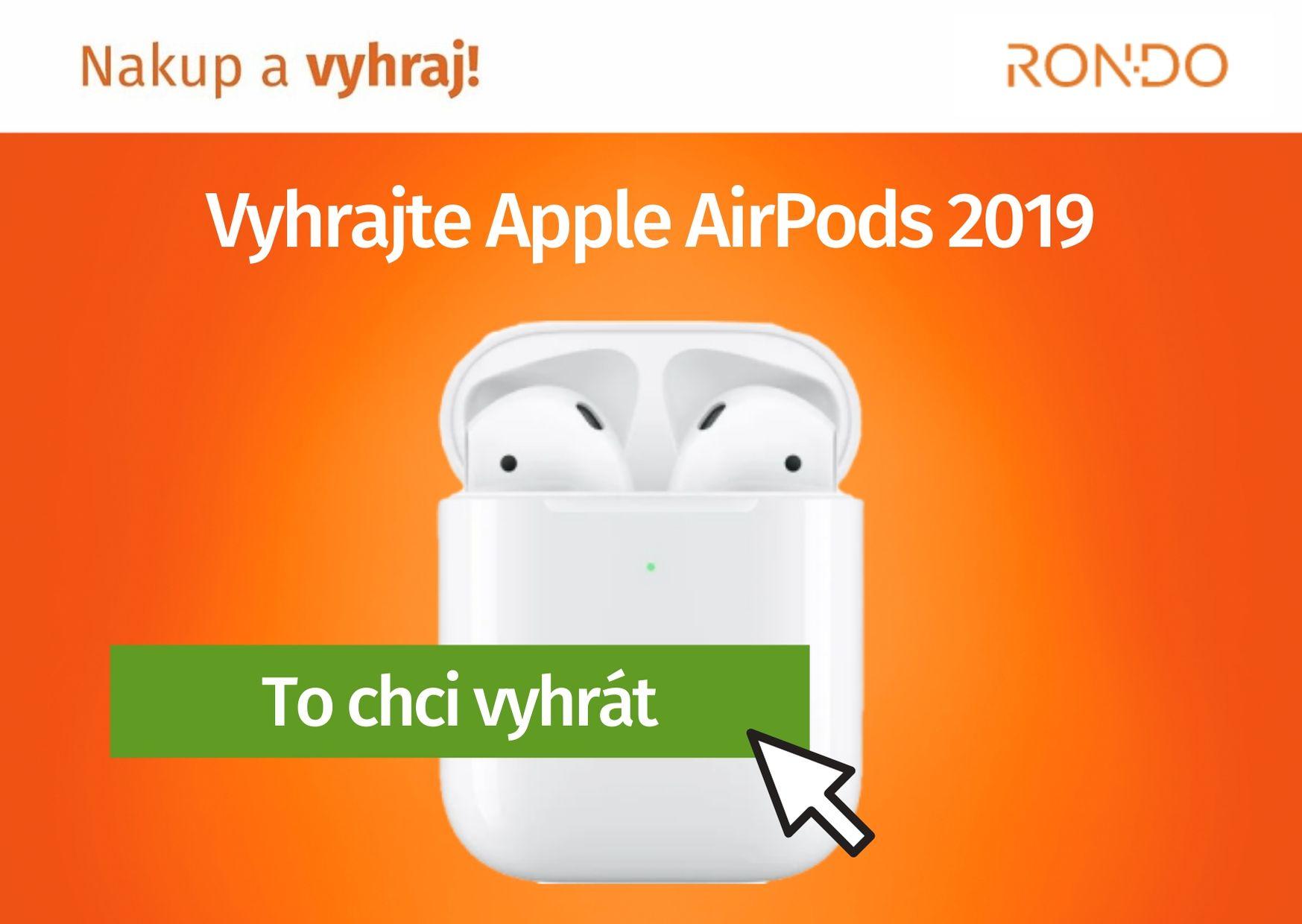 Soutěž o Apple AirPods 13 bezdrátová sluchátka - www.rondo.cz