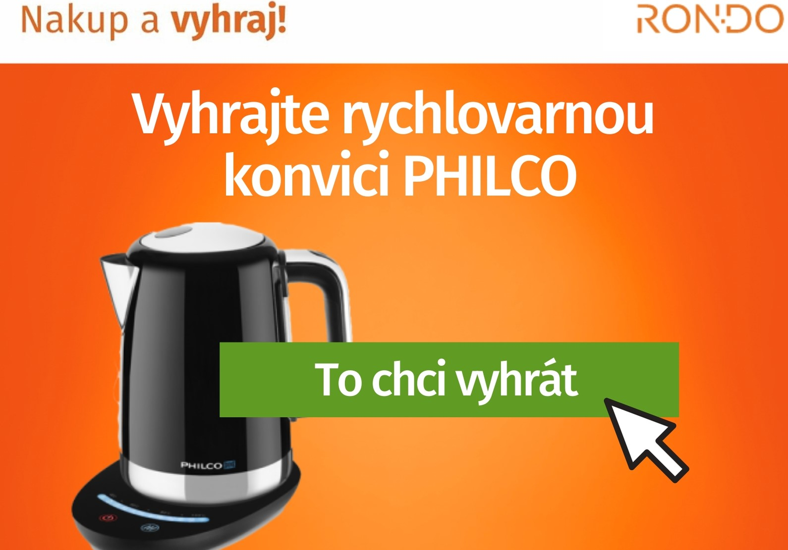 Soutěž o rychlovarnou konvici Philco - www.rondo.cz