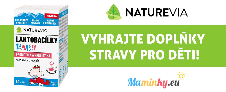 Soutěž o přírodní doplňky stravy Naturevia - maminky.eu