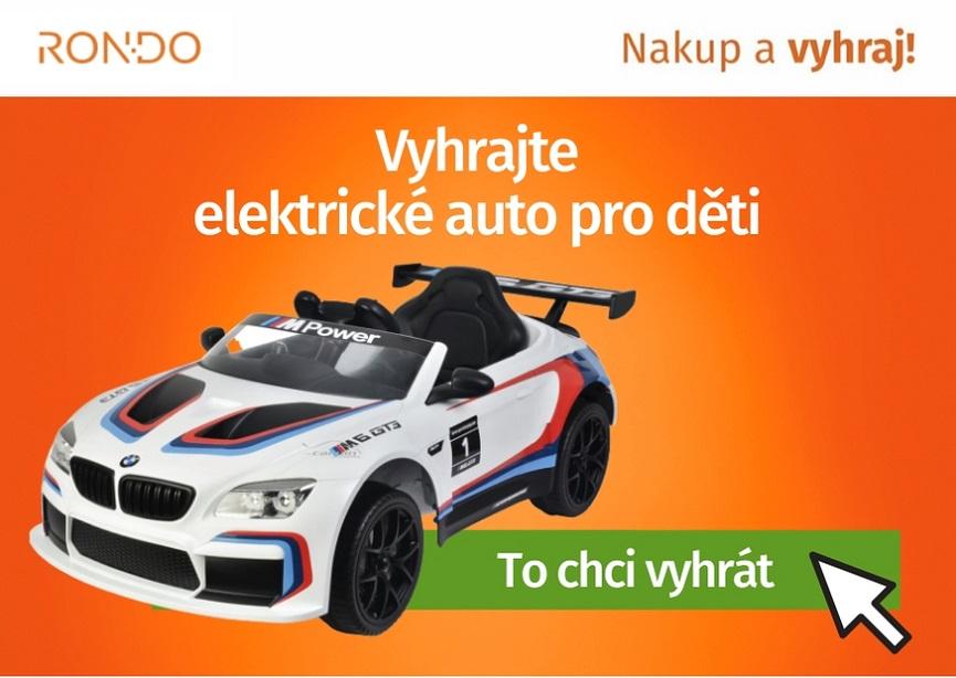 Soutěž o elektrické auto pro děti BMW M6 GT3 - www.rondo.cz