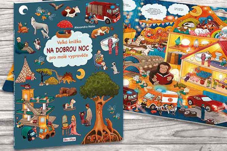 Vyhrajte tři knihy Velká knížka NA DOBROU NOC pro malé vypravěče - www.klubknihomolu.cz