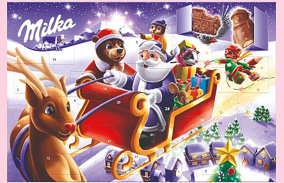 Soutěž o vánoční figurky a adventní kalendáře Milka - www.chytrazena.cz